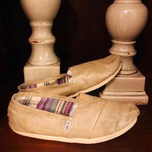 Size 10 Tan Tom Shoes